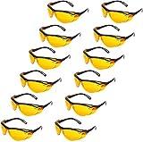 Amazon Basics Blue Light Blocking Safety Glasses Eye Protection, Anti-Fog, Orange Lens, 12-Count
