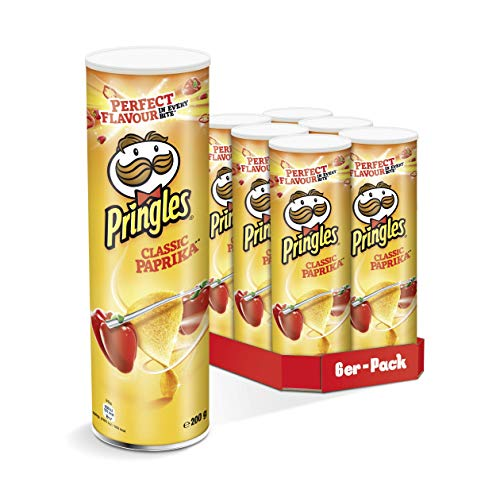 Pringles Classic Paprika Chips | 6er Party-Pack (6 x 200g)