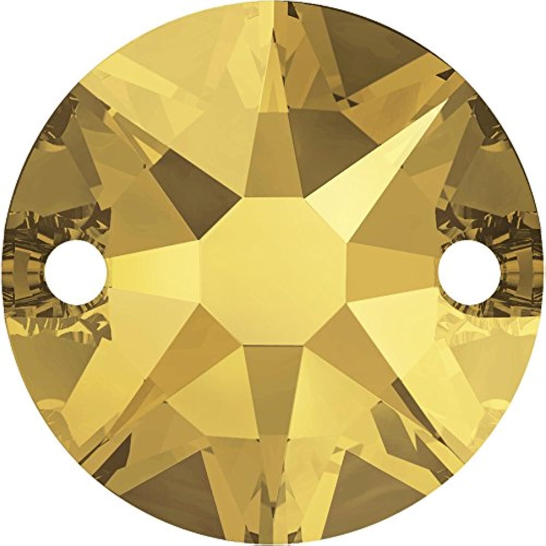 Rhinestones to stitch of Swarovski Elements round 8mm (Crystal-Metallic Sunshine), 144 Pieces