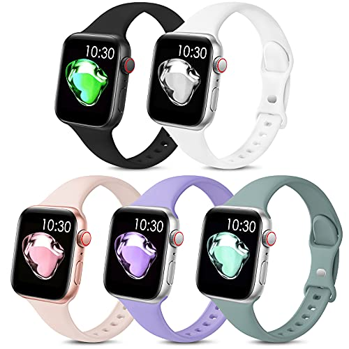 5 Pack Sport Slim Bands Compatible with Apple...
