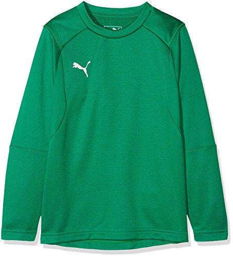 PUMA Kinder LIGA Training Sweat Jr Sweatshirt, Pepper Green White, 164