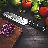 SHAN ZU Damast Santokumesser Kochmesser 67 Schichten Damastmesser Messer mit G10 Griff - PRO Series - 2