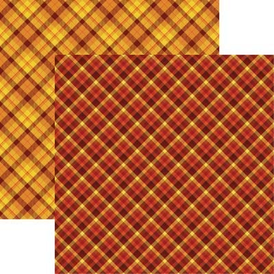 Jacksonville Mall Fall Plaid - Rustica 12x12 Scrapbook 5 Paper Sheets Challenge the lowest price