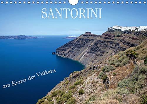 Santorini - Am Krater des Vulkans (Wandkalender 2021 DIN A4 quer)