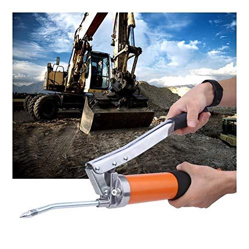 QWXZ Holzwerkzeuge Manuelles 400ml Hochdruck-Fettpresse Schmierung Reparaturhandwerkzeug mit Schlauch Lackierpistole Elektrowerkzeug-Zubehör Stanzpositionierung