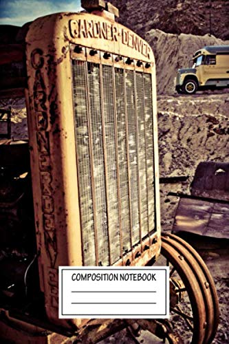 Composition Notebook: Vintage Posters Gardner Denver Industrial Wide Ruled Note Book, Diary, Planner, Journal for Writing