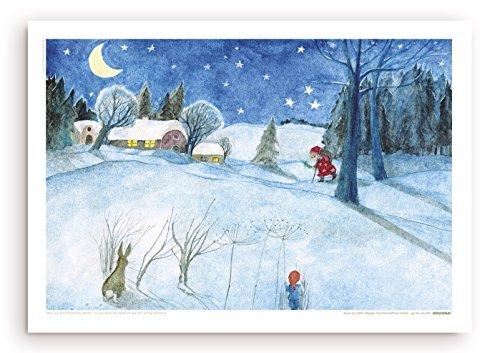 Guter Nikolaus - Poster mit Illustration von E.M. Ott-Heidmann vom schnurverlag