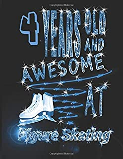 9 Years Old And Awesome At Figure Skating: Stylish & Cute Ice Skating Notebook, Doodling & Drawing Art Book Skaters, Sketchbook For Girls and Women.