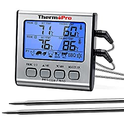 Dual Probe Thermometer For Smoked Chicken