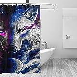 DRAGON VINES Cortina de ducha de tela resistente al agua (183 x 183 cm)
