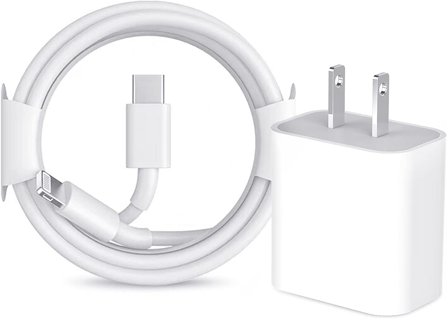Long iPhone 12 Fast Charger, [Apple MFi Certified] 6FT USB C Charger 20W PD Type C Power Delivery Wall Plug Adapter with Lightning Cable for iPhone 12/12 Mini/Pro/Pro Max/11/Pro Max/Xs Max/XR/X/iPad