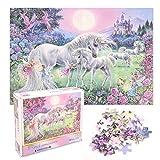 FORMIZON Puzzle de 1000 Piezas, Puzzle Rompecabezas Regalo, Juego de Rompecabezas para Adolescentes, Rompecabezas de Colores para Niños (Unicornio Arcoiris)