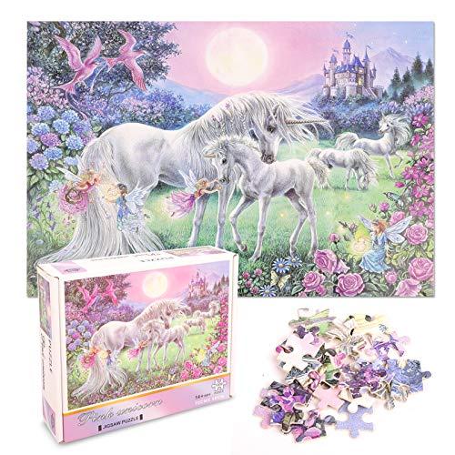 FORMIZON Puzzle 1000 Teile, Klassische Jigsaw Puzzle, Impossible Puzzles Familie Geschicklichkeitsspiel Papppuzzles, Geschicklichkeitsspiel für die Ganze Familie (Regenbogen-Einhorn)