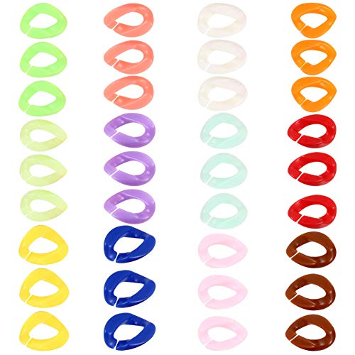 VALICLUD 200 Unids Pendientes de Acrílico Clip Accesorios Creativos para Pendientes Coloridos Aro de Oreja DIY Artesanía Fabricación de Joyas Elegantes Accesorios de Cadena de Bolsas
