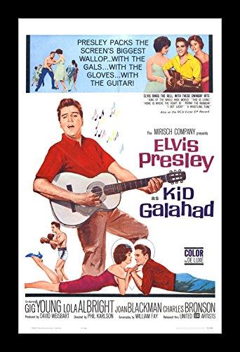 Wallspace Kid Galahad (1962) Elvis Presley - 11x17 Framed Movie Poster