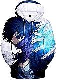 RAIN Boku No Hero Academia Hoodie 3D Printed Hooded Pullover Sweatshirt, Style 1, XX-Large