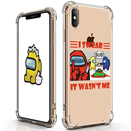 STSNano Case for iPhone X/XS Cute Cartoon Soft TPU Cover, Among SUS Kawaii Fashion Stylish Designer Design Shell Fun Funny Cool Character for US Women Men Kids Girls Boys Cases for iPhone X/XS 5.8""
