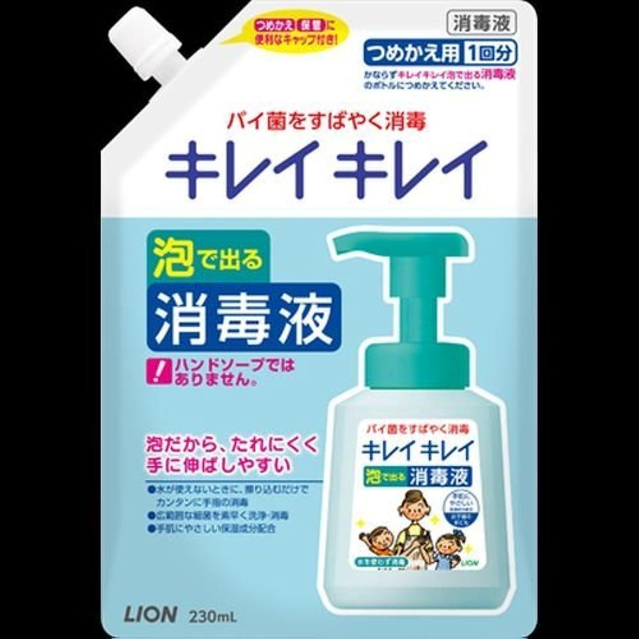 足材料ランチキレイキレイ 薬用泡ででる消毒液 つめかえ用 230mL ×2セット