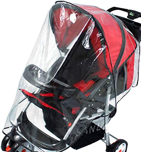 Simplicity Rain & Wind Shield Transparent Baby Stroller Cover for...