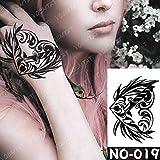 Handaxian 3 pcs-étanche Tatouage Autocollant Totem éblouissant Tatouage Main Bras Couronne Tigre tato Corps Art Homme Homme 19-no19