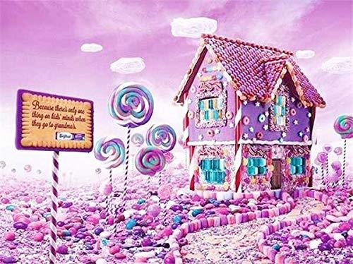 Flor paisaje marino pintura de diamantes mosaico bordado de diamantes casa rosada romántica Kit de diamantes de imitación de punto de cruz A5 40x50cm