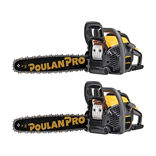 Best Buy! Poulan Pro 20 Bar 50cc 2 Cycle Gas Chainsaw (Certified Refurbished) (2 Pack)