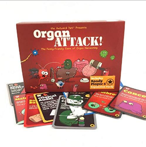 Organ Attack Brettspiel Kartenspiel für Familienfeier