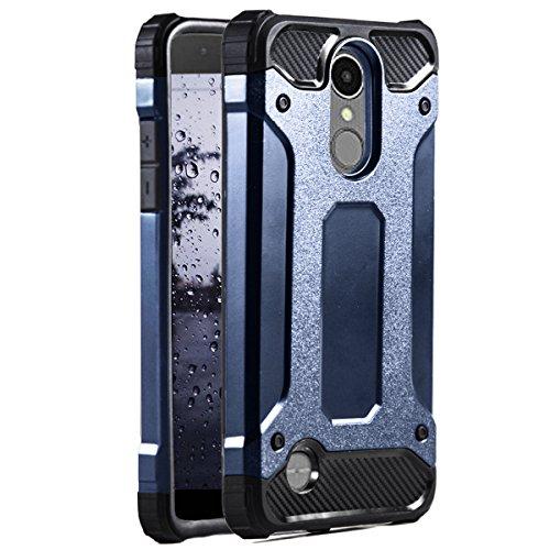 MYCASE] Hard Hülle Hülle für LG K8 (2017) / LV3   Navyblau   Hybrid Design TPU+Kunststoff   Robust Stoßfest 360° Cover   Outdoor Schutzhülle Hülle   Tasche Bumper Schale für LG K8 (2017), LG LV3