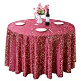 Heheja Rond Rectangulaire Carré Nappe de Table Restaurant fête Satin Nappe Vin Rouge 360cm