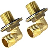 AGAHPAY Installation Kit for Wall Mount Commercial Kitchen Sink Faucet, Backsplash Mounted Kit Sink Faucet Connector Adapter Set for Stainless Steel Commercial Kitchen Utility Sink, G1/2, Solid Brass