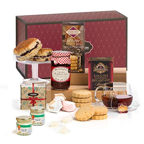 Luxury Afternoon Cream Tea, Scones & Jam Hamper Gift Box