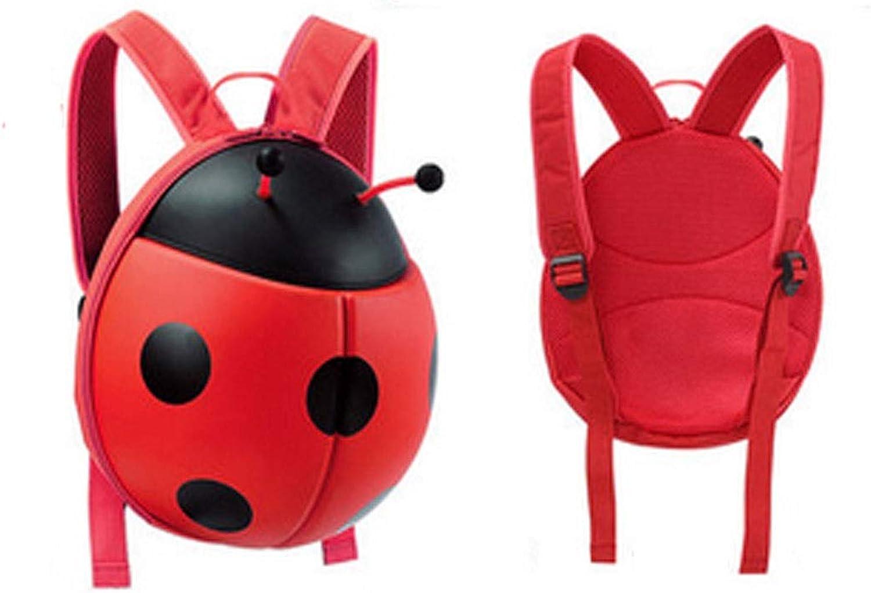 Wuhuizhenjingxiaobu Schultasche, Kfer-Kinderrucksack, verschleifest und wasserdicht, Geeignet für Kinder im Alter von 1-6, 26  14  28cm, Rot, Gelb (Farbe   rot, Größe   19  10  24cm)
