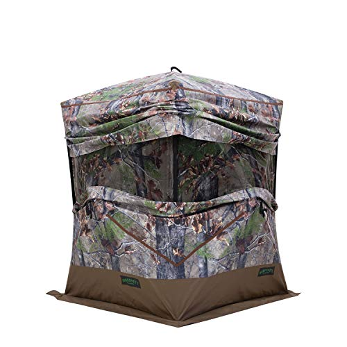 Barronett BX300BW Ox 300 Ground Hunting Blind, 3 Person Pop Up Portable, Backwoods Camo