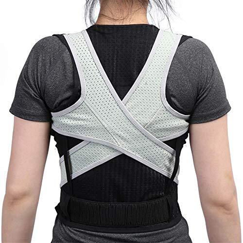 JIUYUE Corset Adulto Espalda Corsé Ortopédico Volver Postura Corrector Chaleco Columna de Soporte Lumbar Volver Postura Corrección Vendaje para Hombres Mujeres (Size : S)