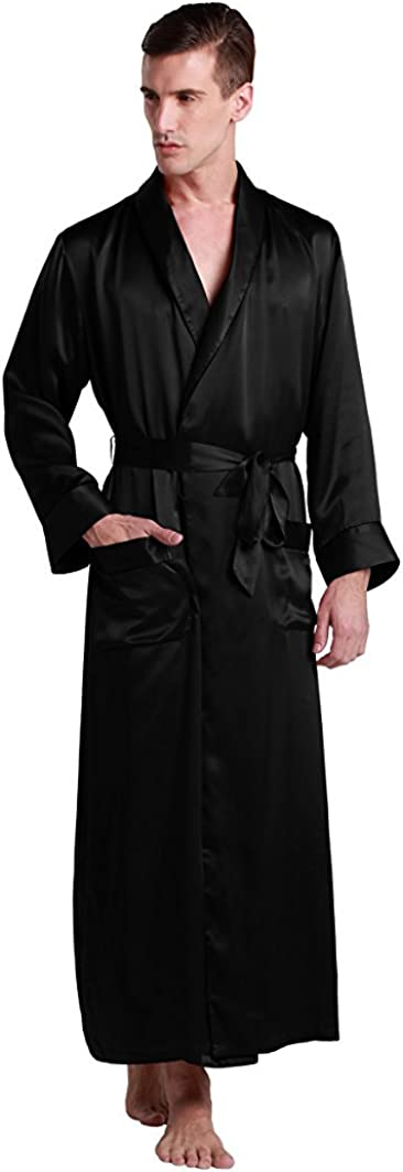 40% OFF Cheap Sale LilySilk Mens Super Special SALE held Real Silk Robe 22 Robes Momme Luxury Contrast Bath