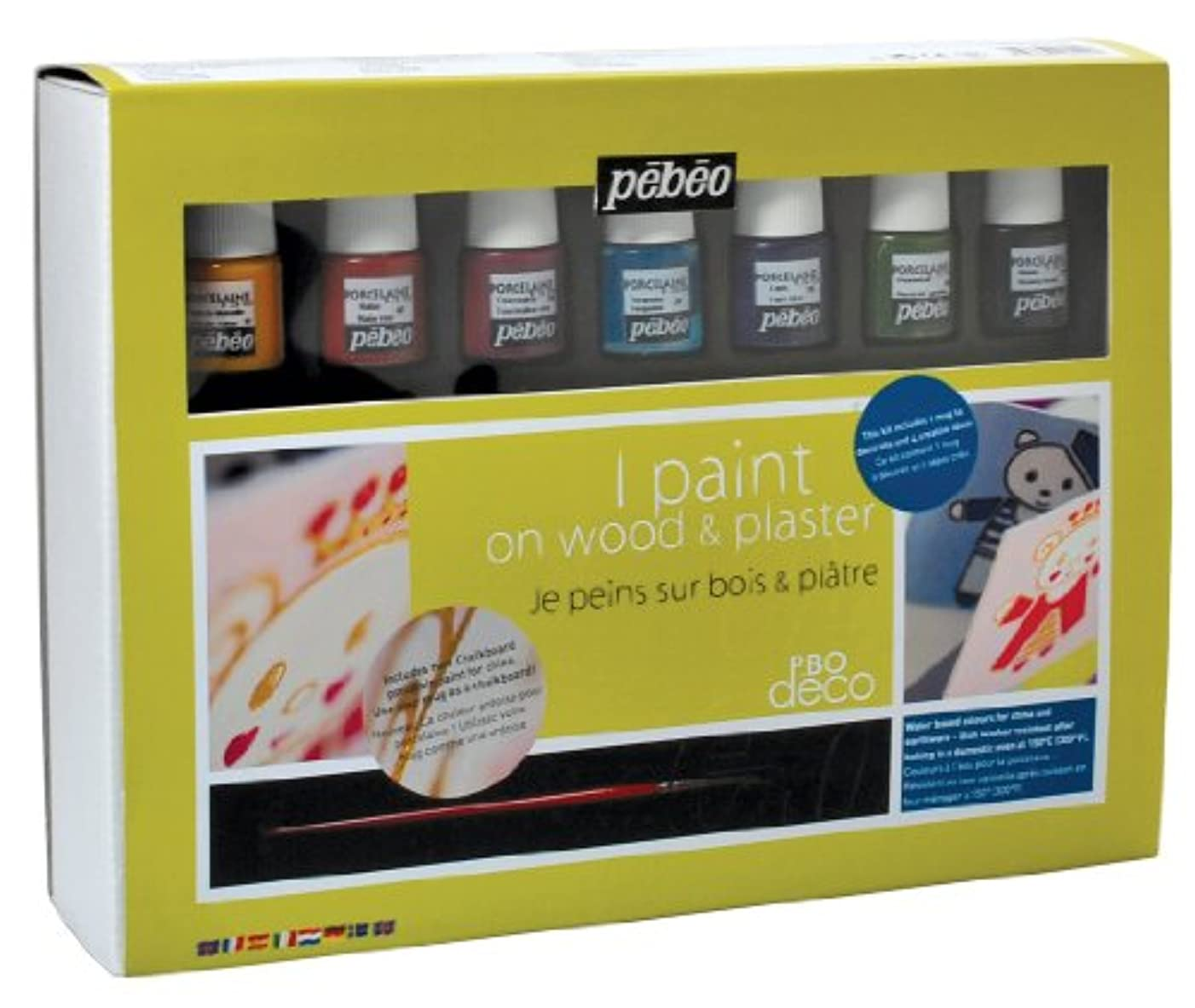 Pébéo 758301?PBO Deco Decoration Set consisting 8?Paint Pots 20ml 24.5?x 33?x 10?cm Multi-Coloured