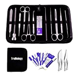 22 PCS- Quality Advanced LAB Dissection KIT for Biology Anatomy Medical Students - Veterinary - Botany - Any Dissection Needs