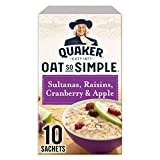Quaker Oat So Simple Sultanas, Raisins, Cranberry & Apple 10 x 38,5g - Vollkorn Haferflocken mit Sultaninen, Rosinen, Preiselbeeren & Apfel -