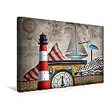 Calvendo Premium Textil-Leinwand 45 cm x 30 cm quer, An der Nordseeküste | Wandbild, Bild auf Keilrahmen, Fertigbild auf echter Leinwand, Leinwanddruck: Traum und Wirklichkeit Kunst Kunst