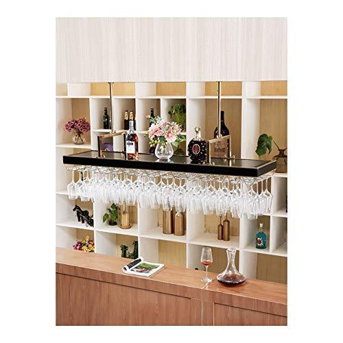 ALBBMY Weinglas Rack-Schrank-Weinglashalter unter Kabinett Weinglas-Rack (Color : Gold 100 * 35)