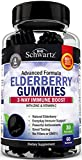 Natural Sambucus Elderberry Gummies - Dr. Approved 3-Way Immune Support with 100% Vitamin C & Zinc - Powerful Daily Vegan Herbal Gummy Supplement with Antioxidant Formula - 60 Gummies