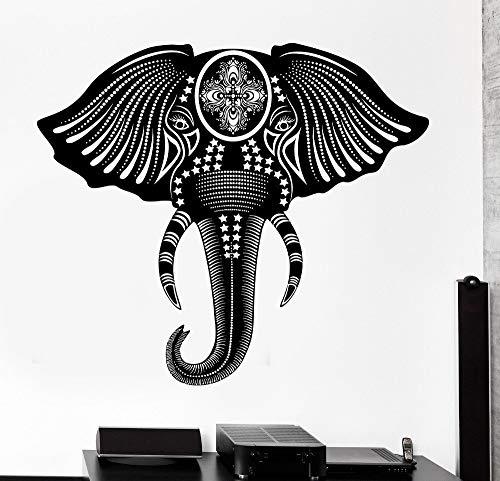 Geiqianjiumai kleuterschool muur applicatie afneembaar behang decoratie yoga applicatie olifant cool dier ornament muur vinyl sticker