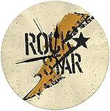 AZHOULIULIU Co.,ltd Reloj de Pared Rockstar Grunge Thunderbolt Symbol Reloj Redondo