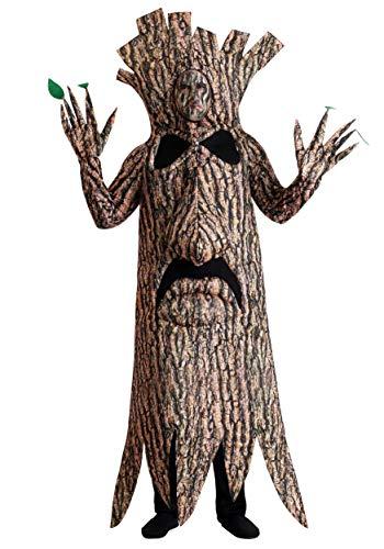 Disfraz de árbol aterrador para adultos. - marr�n - X-Large