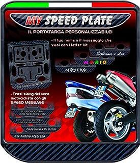 Quattroerre 16109 Personalisierbarer Kennzeichenhalter für Motorrad Tricolore Carbon