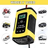Boat Maintain and Repair Batteries for Cars Used to Charger CQWL Car Battery Charger 12V // 5A Intelligent Automatic Battery Charger /& Maintainer with LCD Screen Motorcycles