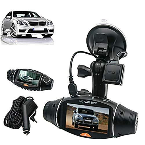 Dash Cam, MACHSWON 1080P HD Autokamera Video DVR Camcorder Vorder und Rückkamera mit Nachtsicht 140 ° Weitwinkel G Sensor GPS Support SD Karte