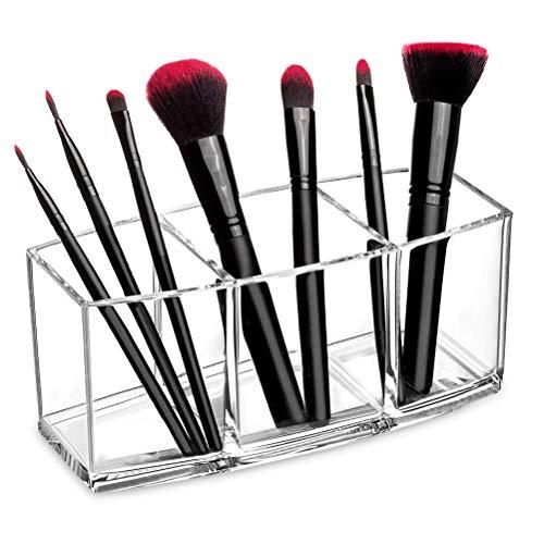 Koowaa 3 Fentes claires Porte-Pinceau de Maquillage Organisateur PS cosmétiques pinceaux Organisateur de Stockage Organisateur de Maquillage Porte-pinceaux