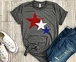 4th of july tee womens memorial day shirt patriotic shirt star t glitter fouth of july tee
