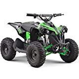 MotoTec 36v 500w Renegade Shaft Drive Kids ATV 4-Wheeler Quad Green